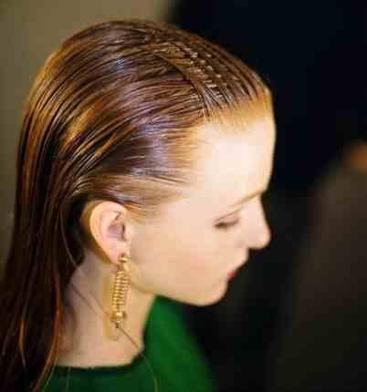 الشعر المبلل من تسريحات شعر 2015
