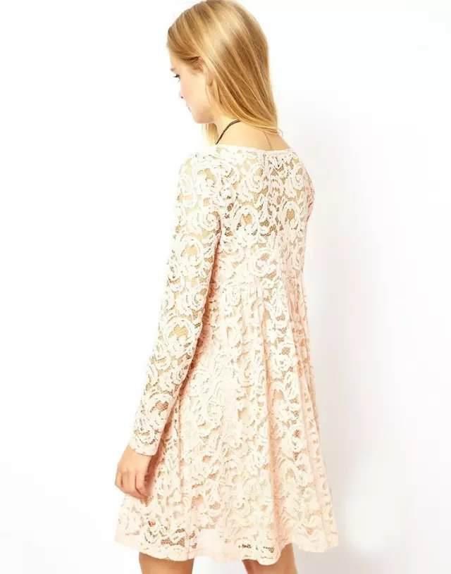 new-المرأة-اللباس-الخريف-2015-أوروبا-وأمريكا-طويلة-الأكمام-أزياء-مزاج-o-الرقبة-فستان-الدانتيل-الأسود (1)