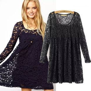 new-المرأة-اللباس-الخريف-2015-أوروبا-وأمريكا-طويلة-الأكمام-أزياء-مزاج-o-الرقبة-فستان-الدانتيل-الأسود.jpg_350x350