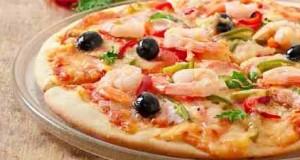 طريقة عمل البيتزا بالجمبري